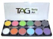 TAG Face Paint Palette Set ~ 12 x 10g Regular Colours