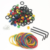 50 Needle Grommets Nipples + 50 Rubber Bands + 50 O-Rings + 3 Wrench Tattoo Kit