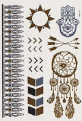 Dreams - Gold Silver Metallic Temporary Tattoo's