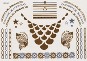 Touching - Gold Silver Metallic Temporary Tattoo's