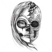 Dead or Alive Skull - Temporary Tattoo by TempTatz