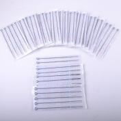 100pcs Mixed Disposable Stainless Tattoo Needles 3RL/5RL/7RL/9RL/5RS/7RS/9RS/5M1