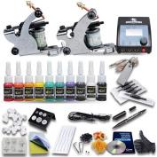 Professional Great Beginner Tattoo Kit 2 Machine Guns 10 Inks UKDUN-1
