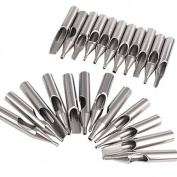 23 Stainless Steel Tattoo Nozzle Tips for Machine Gun