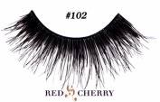 Red Cherry 100% Human Hair Eyelashes #102