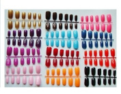 """Short to Medium"" Length Full Cover Multi-Coloured False Nails - 288 from Pink-Candy"