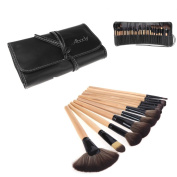 dodocool Wood 24Pcs Makeup Brushes Kit Professional Cosmetic Make Up Set + Pouch Bag Case