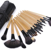 Lychee Beautiful Soft Professional 24pcs Makeup Brushes Cosmetic Make Up Brush Set Kit Foundation with Free Faux Leather Pouch Bag Case