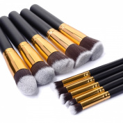 XCSOURCE® 10PCS Professional Pro HQ Makeup Brushs Brush Cosmetic Set Make up Brushes Blending Concealer Eyeshadow Eyebrow Foundation Shadow Powder Cosmetics Tools Kit