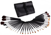Glow 34 Piece Professional Makeup Brushes in Black Case