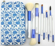 Greenery Professional 10 Pcs Cosmetic Make up Brush Set with Pouch, Set of 10 Brushes and 1 Leather Pouch