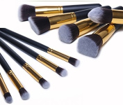 Beau Belle Professional 10Pcs Make up Brushes - Makeup Brushes Kit Professional Cosmetic Make Up Set + Pouch Bag Case