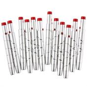 Davidsonne 12pcs Makeup Lip Brush Retractable Aluminium Professional Cosmetic Silver