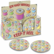 Sewing Cotton Reels Pocket Vanity Mirror - Mad Beauty