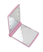 niceeshop(TM) 8 LED Light Cosmetic Make Up Compact Portable Folding Fold Mirror