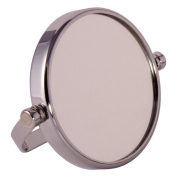 FMG Small Round Chrome Free Standing 7X Magnifying Travel Mirror 7cm Diameter