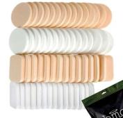 BMC Womens Cosmetic Eye Makeup Face Foundation Primer Puff Sponges - 60pc Set