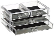 Cosmetic Make Up Clear Acrylic Organiser 20 Sections with Drawers #89