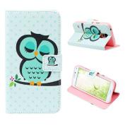 Atdoshop(TM) Owl Bird Wallet Leather Flip TPU Cover Case for Smart Mobile Phones