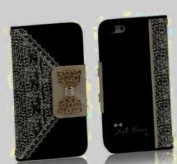 Ukamshop(TM)Black Cute Flip Wallet Leather Case Cover for iPhone 4 4S 5 5S 5C Samsung Galaxy S5 S4 S3 Note2 Note3