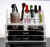 Makeup Organiser Luxury Cosmetics Acrylic Clear Case Storage Insert Holder Box with Draws
