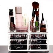 HQdeal Makeup Organiser Luxury Cosmetics Acrylic Clear Case Storage Insert Holder Box with Drawers 6 Drawers