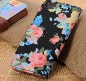 Atdoshop(TM) Fashion Magnetic Wallet Floral Leather Cover Case For iPhone 5C
