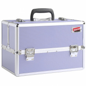 Beautify Professional Large Lush Lilac Aluminium 8 compartment Beauty Box Cosmetics & Make Up Case