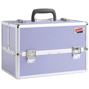 Beautify Professional Large Lush Lilac Aluminium 8 compartment Beauty Box Cosmetics & Make Up Case