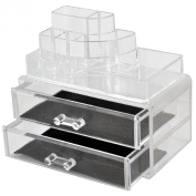 Cosmetic Make Up Clear Acrylic Organiser 10 Sections with Drawers #108