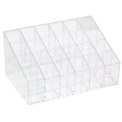 TRIXES Clear 24 Makeup Lipstick Cosmetic Storage Display Rack Holder Organiser