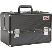 Beautify Professional Large Elegant Black Chic Aluminium 8 compartment Beauty Box Cosmetics & Make Up Case