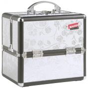 Beautify Professional Stylish Silver Rose Aluminium Beauty Cosmetics & Make Up Case