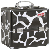 Beautify Professional Black Animal Print Aluminium Beauty Cosmetics & Make Up Case