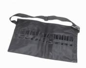 niceeshop(TM) PVC Professional Cosmetic Makeup Brush Apron Bag with Artist Belt Strap,Black