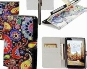 xhorizon® Watercolour Magnetic Folio Case Cover Flip Simple Card Wallet for Various Cellphone Samsung LG HTC Huawei Sony Motorola