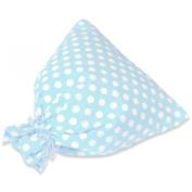 JODA Blue Polka Drawstring Bag