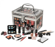 Travel Cosmetic Acrylic Case 42 Piece Beauty Train Box Make Up Gift Set