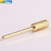 Aitao Durable Qualified Carbide Golden Carbide Barrel Electric Drill File Drill Bit Cylinder Drill Bit for Nail Art