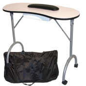 BLACK PORTABLE SALON MANICURE NAIL HAND ART BEAUTY TABLE FOLDING FOLDABLE DESK