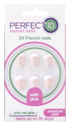 Perfect 10 French Artificial Nails - American Pink
