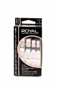 Royal 24 Glue-On French Manicure Short Square Nails