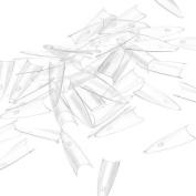 500 Clear Sharp Ending Stiletto Acrylic False Nail Art Tips Salon