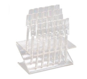 . 32 Pcs Clear UV Gel Acrylic Nail Art Tips Samples Pop Stick with Display Stand