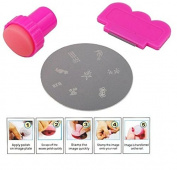 Homgaty Nail Art Stamping Stamper Kit with Image Plate & Scraping Scraper Tool