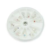 24 Pcs 3D Rhinestones Dangles Charms Acrylic UV Gel Nail Art Decoration New