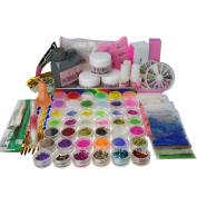 ARTE CLAVO 500Pcs False Nail Tips Acrylic Powder Dotting Pen Cutter 3D Mould Kits Set N065