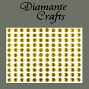132 x 5mm Gold Diamante Self Adhesive Rhinestone Body Vajazzle Gems - created exclusively for Diamante Crafts