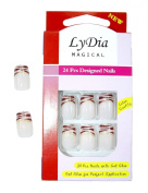LyDia MAGICAL BOXED 24 PIECES WILD ANIMAL PRINT TIPS FRENCH FALSE FAKE NAILS WITH GLUE B217