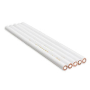 5PCS White Nail Art Pen Rhinestones Gems Picking Design Pencils